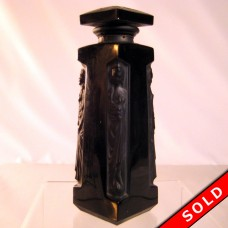 Lalique Glass Perfume Bottle, Black Figural - AMBRE D'ORSAY (SOLD)