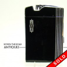 Ronson Black and Chrome Cigarette Case and Lighter Combination - 1930's Art Deco (SOLD)