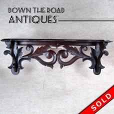 Hand-Carved Black Forest Walnut Shelf - 1880's (SOLD)