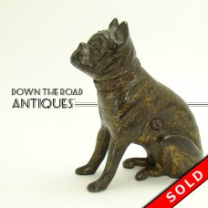 Sitting Bulldog Cast Iron Bank by Hubley (SOLD)