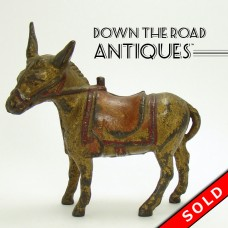 Cast Iron Donkey Bank by A. C. Williams (SOLD)