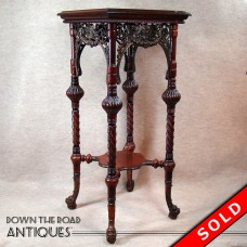 Solid Cherry Carved Stand with Bronze Mounts - 1880's (SOLD)