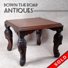 Carved Walnut Plant Stand - 1910 (SOLD)