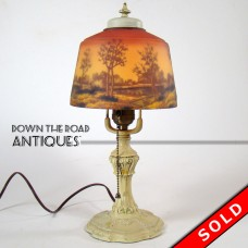 Phoenix Art Glass Reverse-Painted Boudoir Lamp - All Original (SOLD)