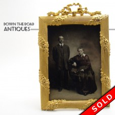 Cast Bronze Picture Frame with Original Photo - 1880's (SOLD)