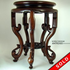 Carved Rosewood Chinese Plant Stand - 1870's (SOLD)