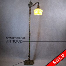 Ornate Floor Lamp with Original Enameled Paint - 1920's (SOLD)