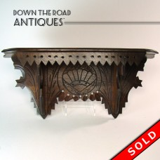 Carved Walnut Clock Shelf - 1880's Victorian (SOLD)