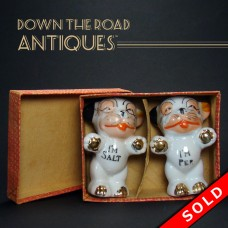 Porcelain Bonzo Salt and Pepper Shakers - Mint in Box (SOLD)