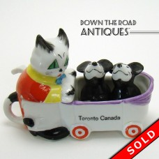 German Porcelain Mickey Mouse Salt and Pepper Shakers and Condiment Set - Late 1920's (SOLD)