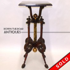 Aesthetic Movement Plant Stand with Mohair Spindle - 1880's (SOLD)
