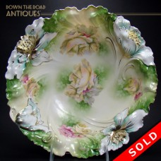 Large R.S. Prussia Porcelain Bowl with Floral Design (SOLD)
