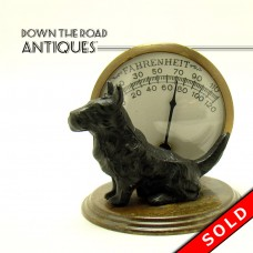 Scottie Dog Desktop Thermometer - 1920's (SOLD)