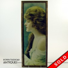 Lithograph Print of Beautiful Girl -  Art Nouveau 1910 (SOLD)