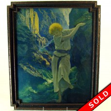 "Maxfield Parrish Framed Lithograph - ""Canyon"" - 1920's (SOLD)"