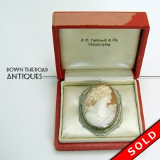Cameo Brooch or Necklace with Fancy 10K Gold Work Bezel (SOLD)