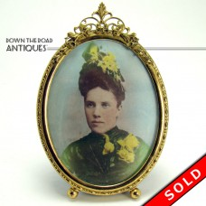 Victorian Gold Plated Picture Frame with Artist-Enhanced Photo (SOLD)