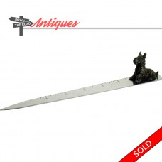 Scotty Dog Paperweight Letter Opener Ruler - 1950's (SOLD)