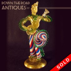 Venitian Murano Glass Figural Guitar Player Sculpture - Mid 20th century (SOLD)