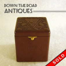Bakelite Cigarette Box with Figural Nude - Art Nouveau (SOLD)