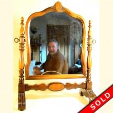 Swiveling Walnut Dresser Mirror - 1920's (SOLD)