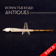Carved Mother of Pearl Native American Dip Pen (SOLD)