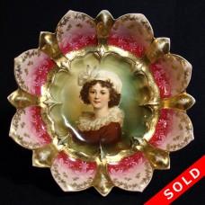 R. S. Prussia Le Brun Porcelain Portrait Bowl (SOLD)
