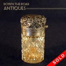 Gorham Repoussé Cut Glass Perfume Bottle (SOLD)