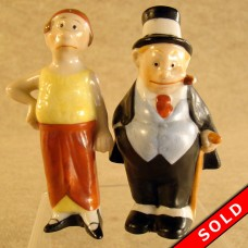 Porcelain Maggie and Jiggs Comic Character Salt & Pepper Shakers (SOLD)