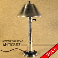 Art Deco Chrome Boudoir Lamp - 1920's (SOLD)