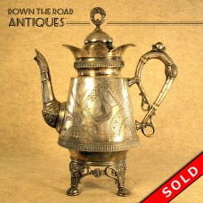 Silver Plated Coffee Pot - Victorian (SOLD)