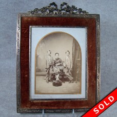 Bronze and Velvet Picture Frame (SOLD)
