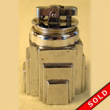Ronson New Yorker Lighter with Stepped Chrome Plated Base (SOLD)