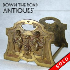 Expandable Iron Book Holder with Angels - 1910 Art Nouveau (SOLD)