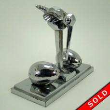Chrome Dodo Bird Salt and Pepper Stand - Art Deco (SOLD)