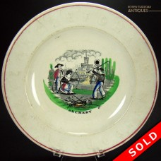 Ceramic ABC Plate with Archery Scene - 1870's (SOLD)