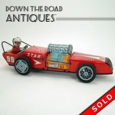 Tin Friction Star Race Car - #99 (SOLD)