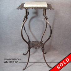 Plant Stand with Marble Top and Griffin Heads - 1890's (SOLD)