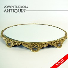 Gold Plated Jewelry Display Plateau or Dresser Tray - 1930's (SOLD)