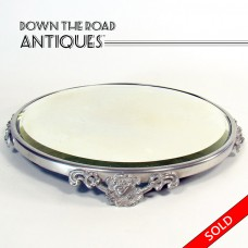 Silver Plated Vanity Plateau - 1890's (SOLD)