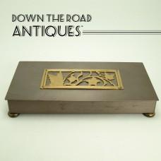 Gold And Brass Desktop Cigarette Holder -  Park Sherman - Arts & Crafts