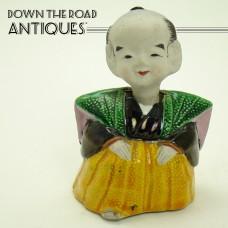 Asian Man Bisque Nodder Figurine