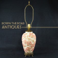 Consolidated Lamp & Glass Co. Dogwood Lamp - 1920's