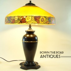 Pittsburgh Obverse Painted Floral Table Lamp