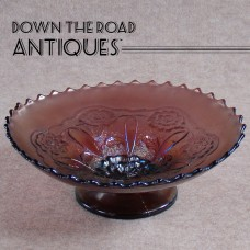 Carnival Glass Amethyst Compote - 1930's