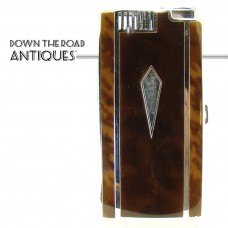 Ronson Pal Enameled Tortoiseshell Cigarette Holder and Lighter Combination