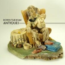 Grandad's Darling Chalkware Figurine - 1960's