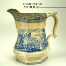 Staffordshire Porcelain Transferware Pitcher - Mayer