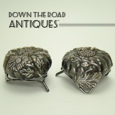 Sterling Salt and Pepper Shakers with Applied Decoration - 1890's