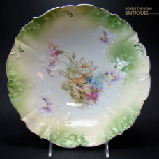 R.S. Prussia Hand-Painted Enameled Porcelain Bowl - 1910